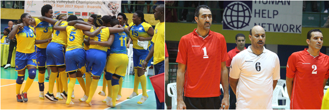 Egypt Men Leading  and Rwanda women Leading in this Africa Paravolley